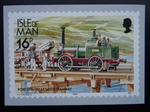 Isle of Man PORT ERIN BREAKWATER TRAMWAY Railways & Tramways c1980's Postcard