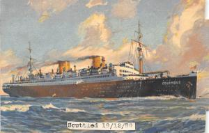 Scuttied Ships Columbus Round the World Cruise 1931, 1939