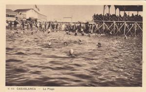 Casablanca , Morocco , 1920-30s ; La Plage
