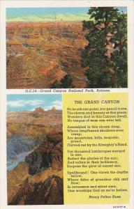 2-Views, Poem by Henry Felton Huse, GRAND CANYON National Park, Arizona, 1930...