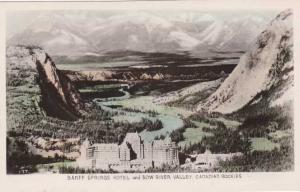 RPPC Banff Springs Hotel and Bow River Valley - Alberta, Canada