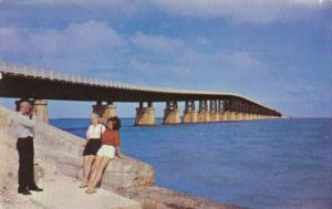 Florida Bahia Honda Bridge On The Overseas Highway In The Florida Keys