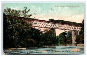 Postcard High Bridge, Claremont, NH 1909 F12