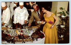 SEA ISLAND, Georgia GA ~ Sunday Night Buffet THE CLOISTER Chefs 1950s  Postcard