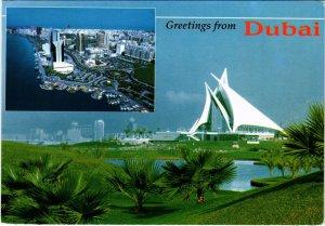 PC CPA U.A.E. , DUBAI, CREEK GOLF & YACHT CLUB, REAL PHOTO POSTCARD (b16411)