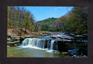 IN Owen County Lower Falls Cataract Park State Park Indiana Postcard Waterfalls