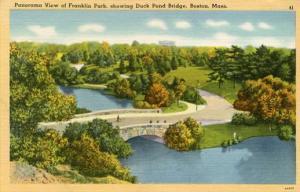 MA - Boston, Franklin Park & Duck Pond Bridge