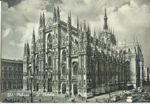 Italy, Milano, Il Duomo, used real photo Postcard