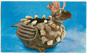 Zoomorphic Vessel, Buzzard Shaped from Teotihuacan, 1970s used Postcard