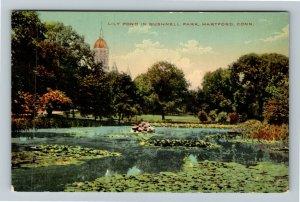 Hartford CT-Connecticut, Bushnell Park, Lily Pond Capitol Dome, Vintage Postcard