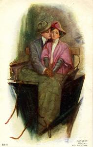 Harvest Moon… No Ra(e)ins - Artist: Alfred James Dewey.    (Romance)