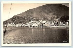 Postcard AK Ketchikan View of Harbor and Town RPPC Real Photo R03