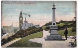 Lancashire; Rochdale, Memorial To Lancashire Poets PPC 1905 Squared Circle PMK