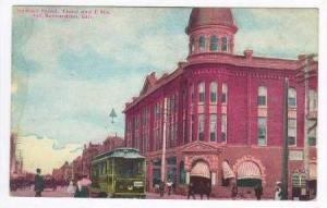 Stewart Hotel, Trolley, San Bernardino, CA, 1912