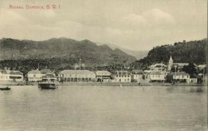 Dominica B.W.I., ROSEAU, Panorama (1910s) Postcard