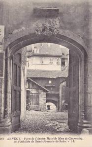 Porte De l'Ancien Hotel De Mme De Charmoisy, La Philothee De Saint-Francois D...