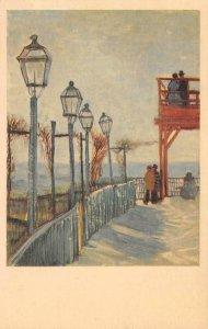 ON MONTMARTRE Vincent Van Gogh Painting c1930s Vintage Art Postcard
