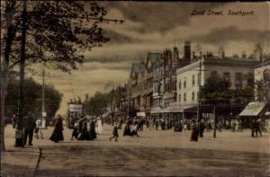 Southport UK Lord St. c1910 Postcard