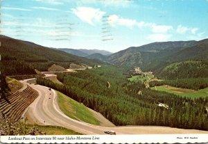 Idaho Lookout Pass On Interstate 90 Near Idaho-Montana Line 1978