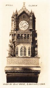 Hall Clock Bily Bros. Ridgeway Iowa.
