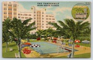 Miami Beach Florida~The Vanderbilt~View of Swimming Pool & Aerial View~1940s