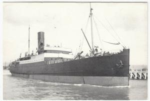 Shipping; Clyde Shipping Co SS Longships Leaving Newhaven, 1932 Repro PPC Unused