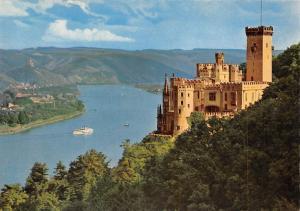 Schloss Stolzenfels am Rhein Castle River Boats Schiff