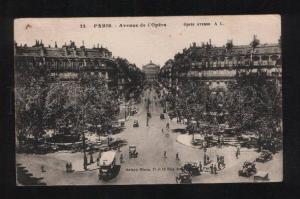 058622 FRANCE Paris Avenue de l'Opera Vintage PC