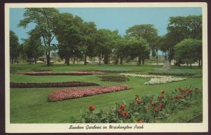 Sunken Gardens Washington Park Chicago Illinois Vintage Postcard