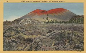 10017 Lava Beds and Sunset Mountain, Route 66, Northern Arizona 1955