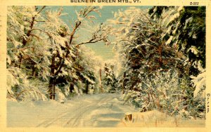 VT - Winter Scene in Green Mountains