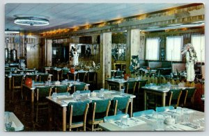 Wildwood New Jersey~Chuck's Round Up Restaurant Interior~Indian Statues~1960s