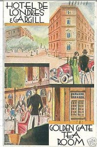 01787 CARTOLINA d'Epoca: ROMA PUBBLICITARIA: HOTEL DE LONDRES