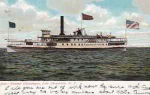 NEW YORK, PU-1908; Steamer Chateugay, Lake Champlain