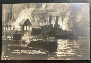 Mint Germany Picture Postcard the successful air raid