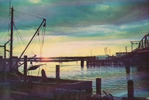 Sunset Over Chincoteague Channel At Chincoteague Island Virginia