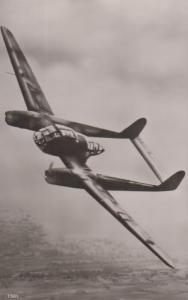 Focke Wolf 189 German Military WW2 Plane Plain Back Postcard Old Photo