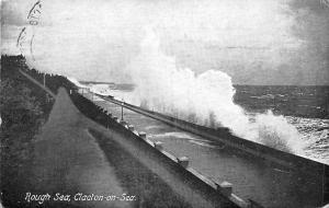 Rough Sea Waves Promenade Clacton on Sea