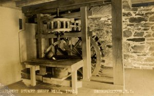 RI - Saunderstown. Gilbert Stuart Snuff Mill, 1751.  RPPC