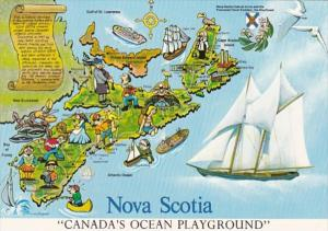 Canada Nova Scotia Map Of Canada's Ocean Playground