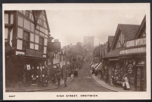 Worcestershire Postcard - High Street, Droitwich    W260