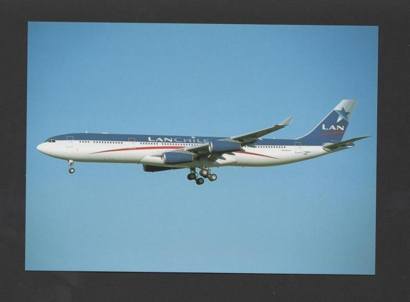 POSTCARD AIRCRAFT AIRBUS 340 LAN CHILE AIRPLANES AIRPLANE AVIONES AVIONS AVIONE