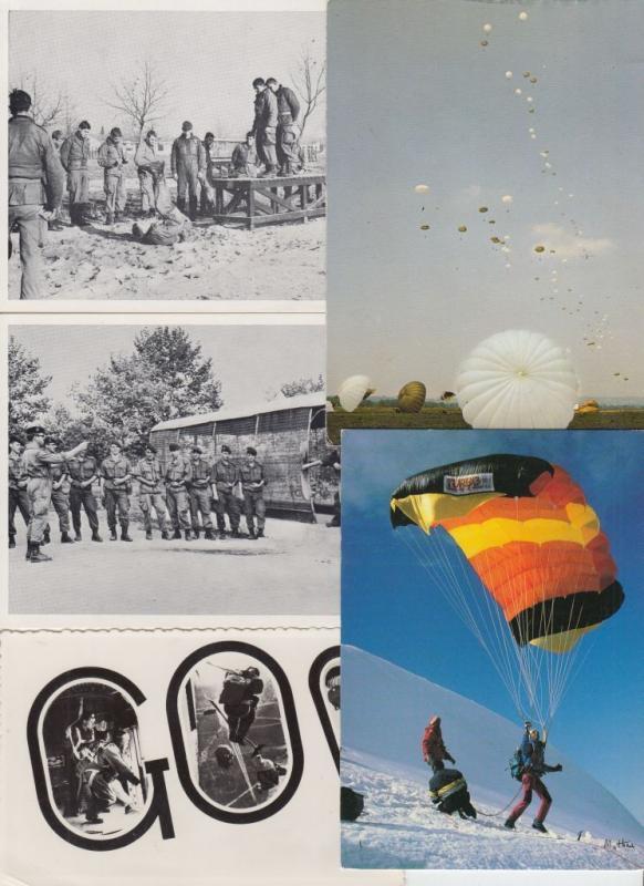 PARACHUTE JUMPING PARACHUTES MILITAIRE MILITARY 39 Cartes Postales 1900-1970
