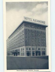 Damaged-Back 1940's THE RICHMOND HOTEL Augusta Georgia GA B5123