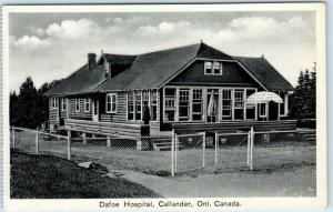 CALLANDER, ONTARIO Canada  DAFOE HOSPITAL for Dionne Quintuplets c1930s Postcard
