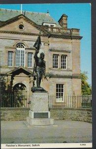Scotland Postcard - Fletcher's Monument, Selkirk    RS7810