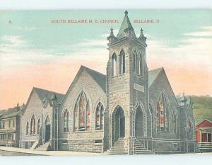 Unused Divided-Back CHURCH SCENE Bellaire - Near Cadiz Ohio OH A8611