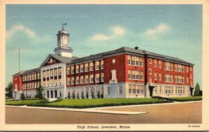 Maine Lewiston High School 1942 Curteich