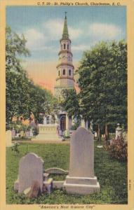 South Carolina Charleston St Phillip's Church Curteich