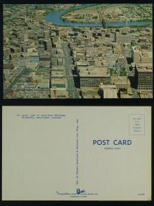 Downtown Winnipeg Man (aerial view) c 1960